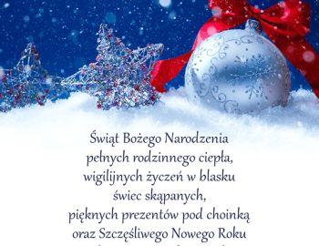 Wesołych Świąt i Szczęsliwego Nowego Roku 2021